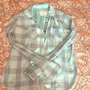 Lightweight plaid shirt American Eagle